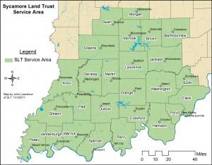 Sycamore Land Trust's Service Area