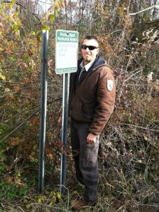Patoka River National Wildlife Refuge assistant manager Heath Hamilton at The Columbia Mine Preserve.
