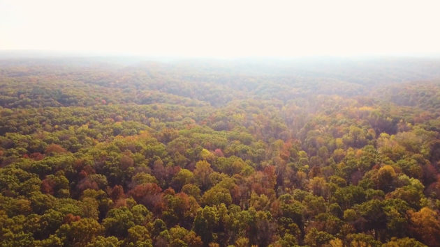 The Laura Hare Nature Preserve at Downey Hill by Seth Teeters, Aerial 812