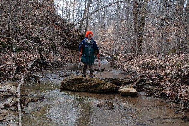 Conservation easement donor Myriam Wood on her property.