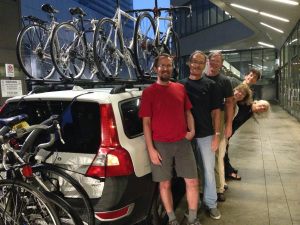 Team Sycamore did a phenomenal job working together on all the logistics to get to and from Grand Rapids and Chicago. With all seven bikes on the Whites' car, we're ready to head back to Bloomington.