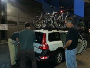 Packing the car in the rain for the ride home made us appreciate the four days of magnificent riding.