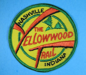 An example of the patches awarded for completing the historic Yellowwood Trail.