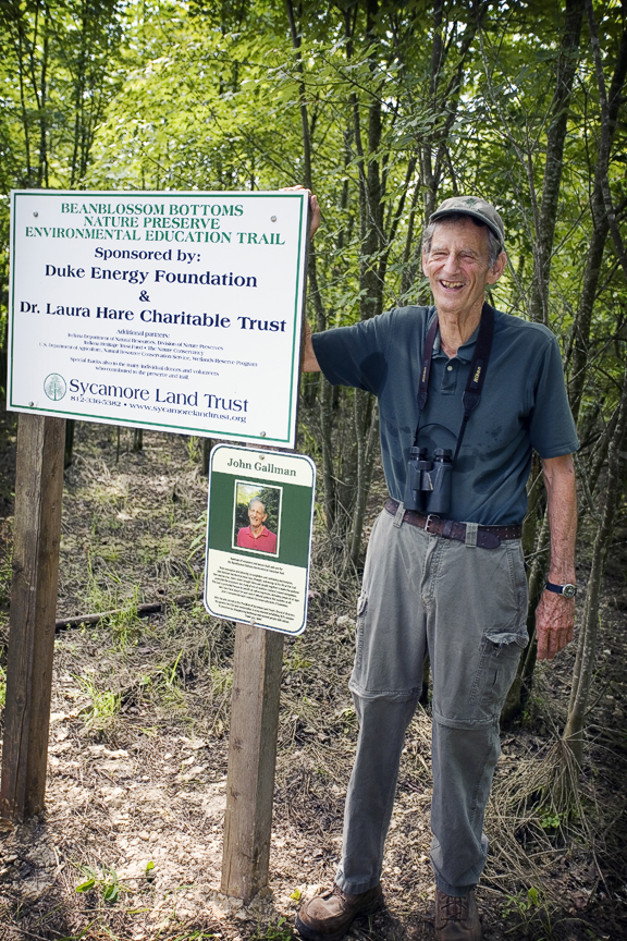 John Gallman at the Beanblossom Bottoms Nature Preserve dedication in 2011. Photo by John D. Shearer.