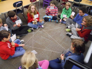 elementary students learning about ecosystems