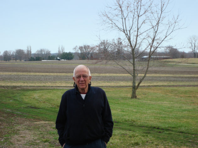 Gary Chambers on his farm in the fall of 2015