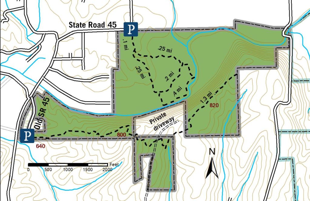 Trevlac Bluff Nature Preserve Draft Trail Map 2021
